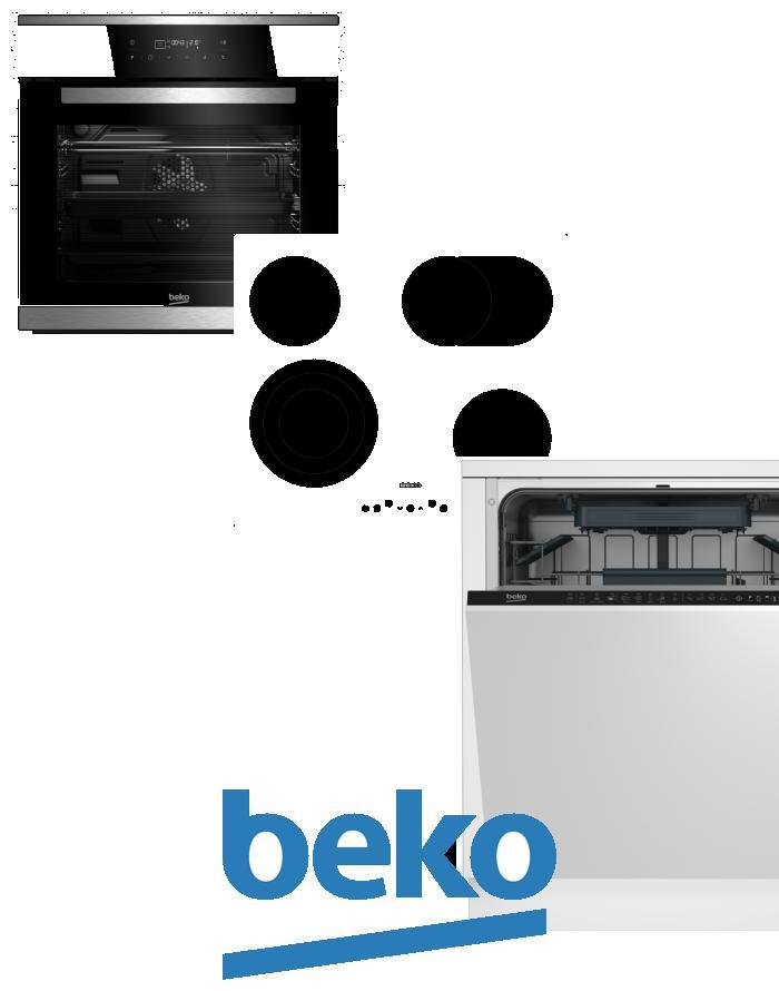 výhodný set BEKO BIMM 25400 XMS+HIC 64404 T+DIN 28220 zapojení zdarma