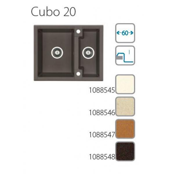 granitové dřezy ALVEUS Cubo 20 espresso