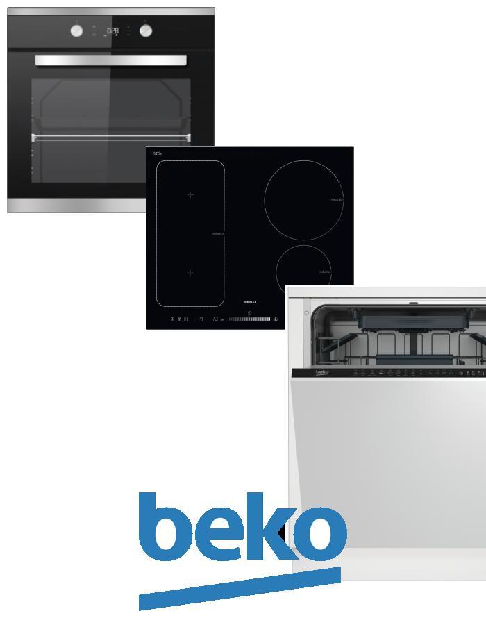 výhodný set BEKO BIM 25301 XCS+HII 64500 FT+DIN 28220 zapojení zdarma