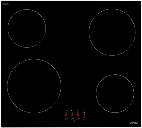 sklokeramická varná deska AMICA DS 6200 zapojení zdarma