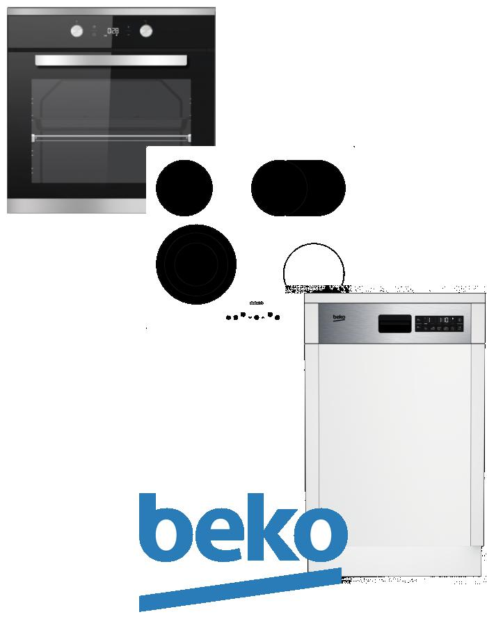 výhodný set BEKO BIM 25301 XCS+HIC 64404 T+DSS 28020 X zapojení zdarma