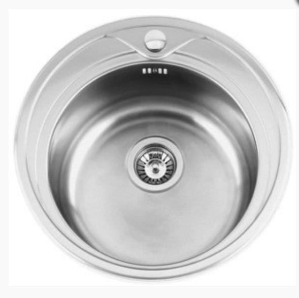 nerezové dřezy malé SINKS Sinks REDONDO 510 V 0,6mm texturovaný + doprava a dárky zdarma