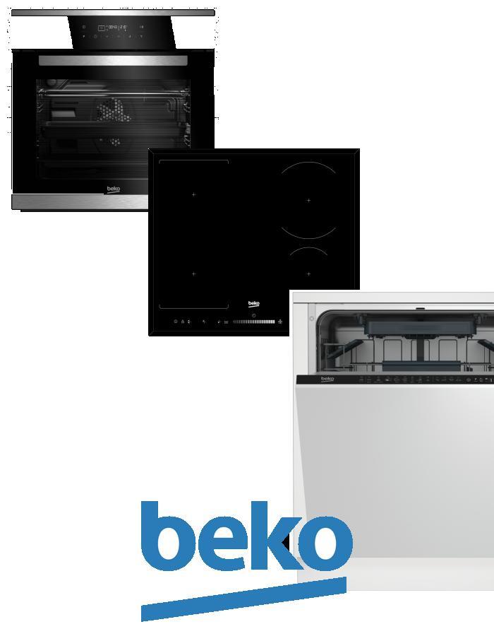 výhodný set BEKO BIMM 25400 XMS+HII 64505 FHT+DIN 28220 zapojení zdarma