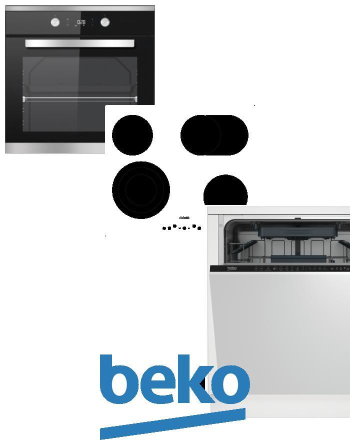 výhodný set BEKO BIM 25301 XCS+HIC 64404 T+DIN 28220 zapojení zdarma