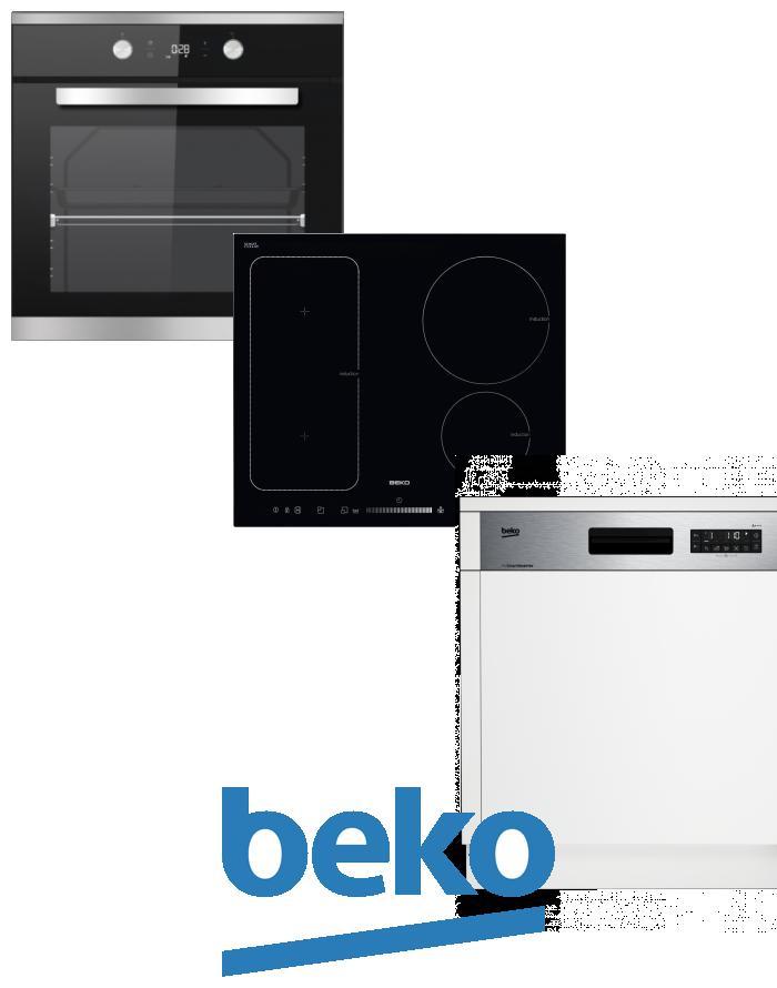 výhodný set BEKO BIM 25301 XCS+HII 64500 FT+DSN 26320 X zapojení zdarma
