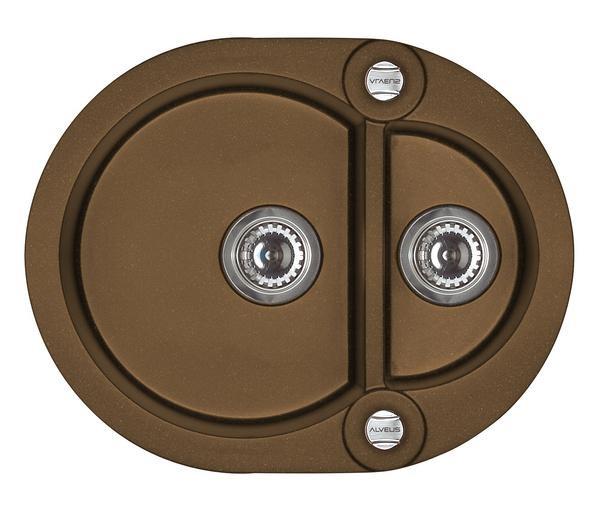 granitové dřezy ALVEUS Roll 80 brown
