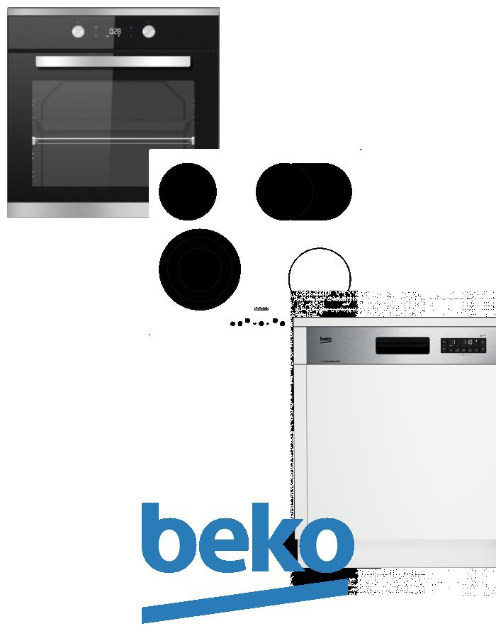 výhodný set BEKO BIM 25301 XCS+HIC 64404 T+DSN 26320 X zapojení zdarma