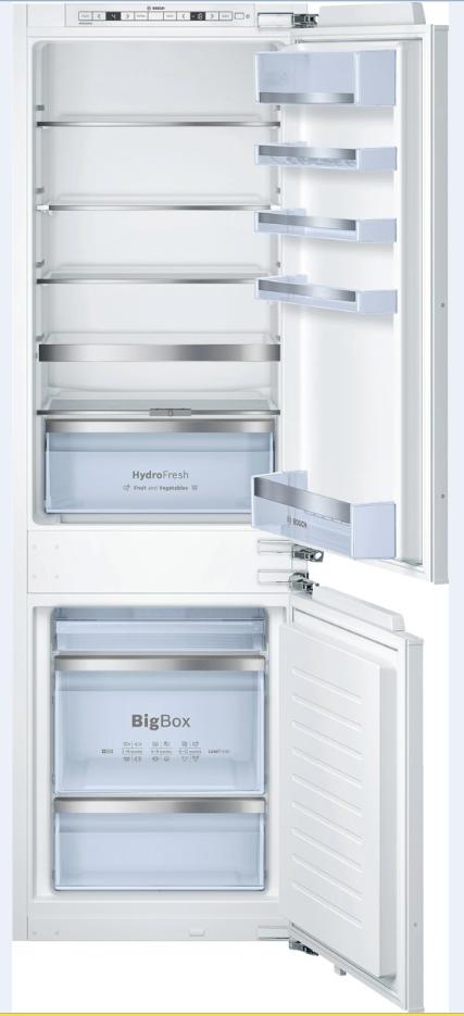 vestavná kombinovaná lednice BOSCH KIS86AF30 zapojení zdarma