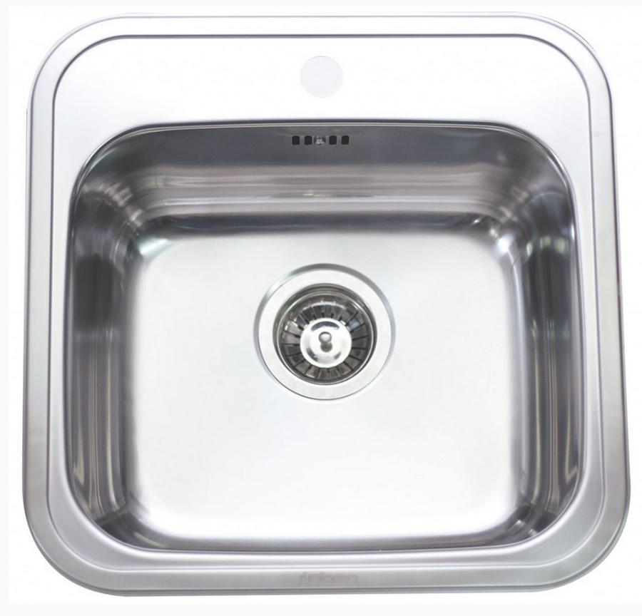 nerezové dřezy malé SINKS Sinks MANAUS 460 V 0,7mm matný přesahový + doprava a dárky zdarma
