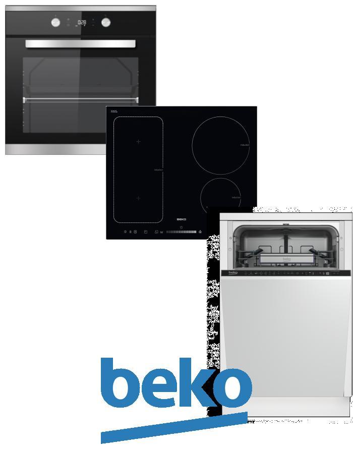 výhodný set BEKO BIM 25301 XCS+HII 64500 FT+DIS 28020 zapojení zdarma