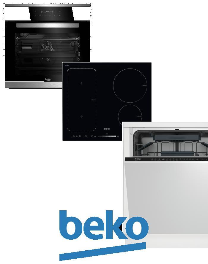 výhodný set BEKO BIMM 25400 XMS+HII 64500 FT+DIN 28220 zapojení zdarma