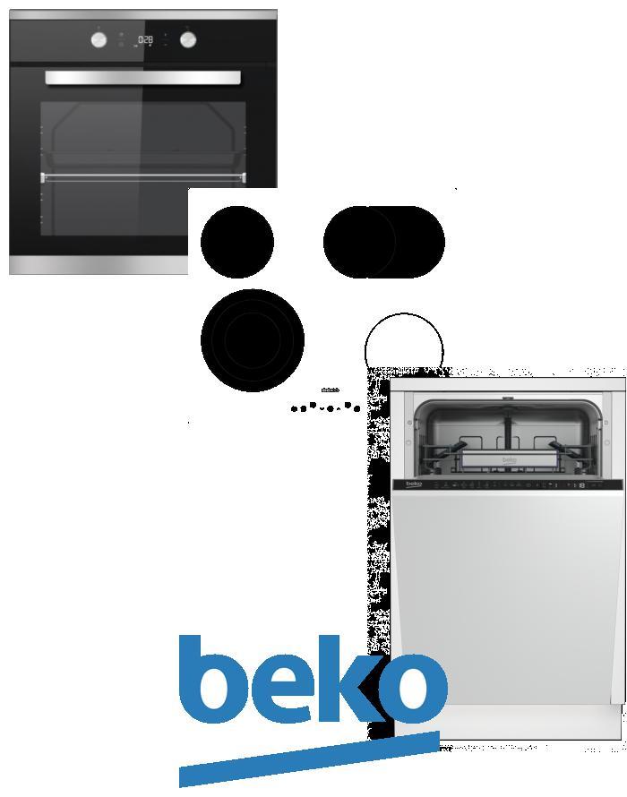 výhodný set BEKO BIM 25301 XCS+HIC 64404 T+DIS 28020 zapojení zdarma