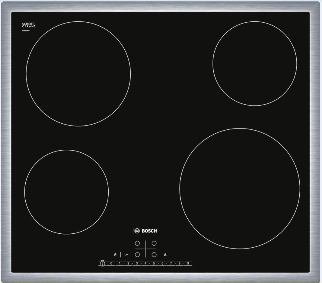 sklokeramická varná deska BOSCH PKE645K17 zapojení zdarma