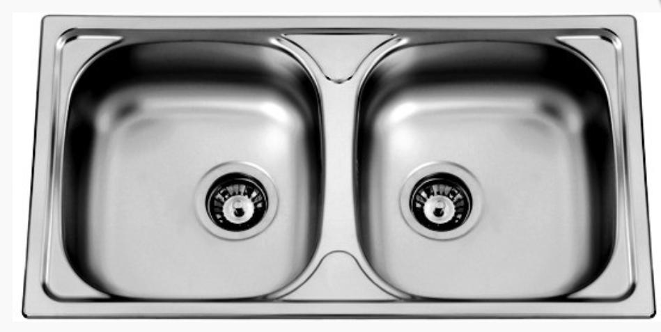 nerezové dřezy velké SINKS Sinks OKIO 780 DUO V 0,5mm matný + doprava a dárky zdarma