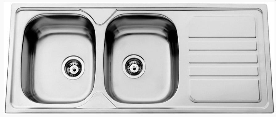 nerezové dřezy velké SINKS Sinks OKIO 1200 DUO V 0,7mm leštěný + doprava a dárky zdarma