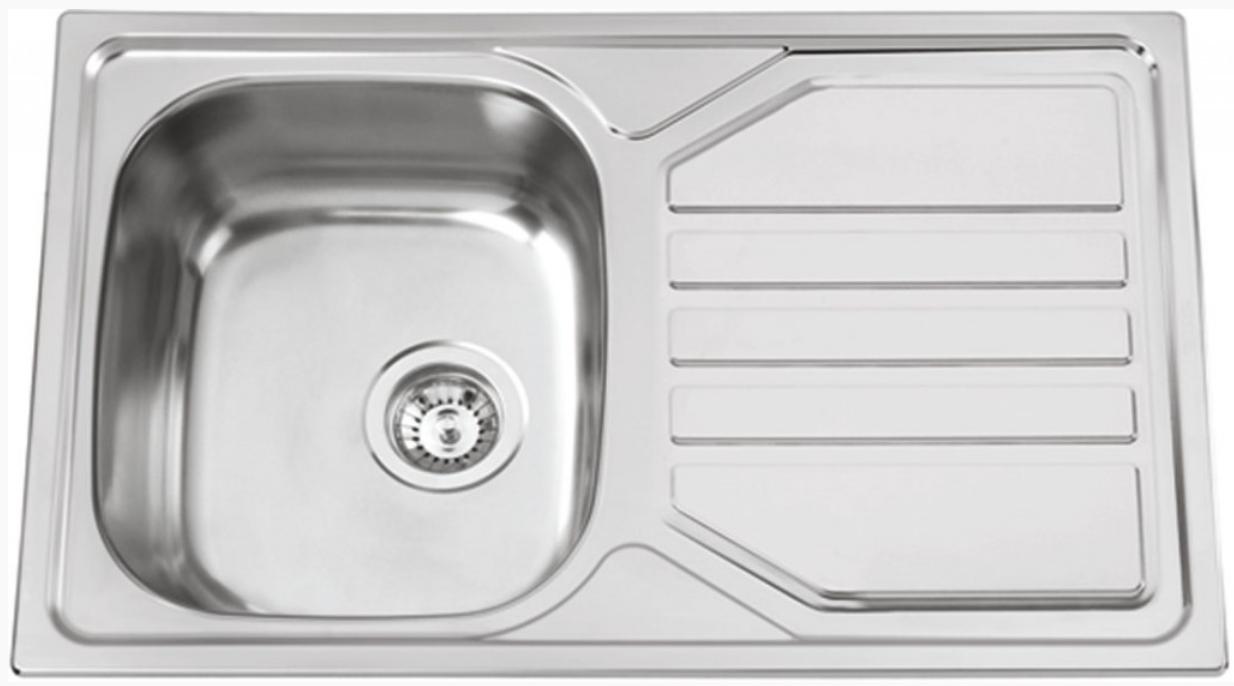 nerezové dřezy velké SINKS Sinks OKIO 800 V 0,6mm texturovaný + doprava a dárky zdarma