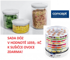 SO2020 Sušička ovoce RAW FOOD+VD8100 Sada kulatých dóz 3ks